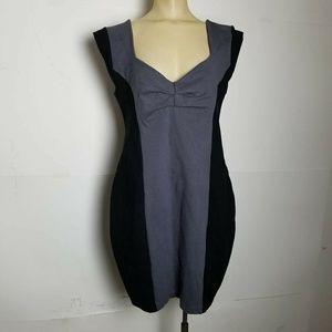 Torrid Colorblock Stretch Bodycon Mini Dress